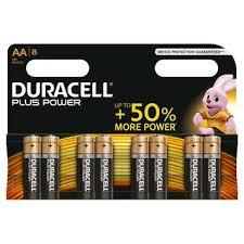 Duracell AA 8 Pack Batterijen