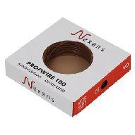 Nexans Profwire VD draad 2.5mm doos=100m, prijs=per meter bruin