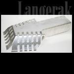 Aluminium Bladvanger t.b.v. kiezelbak 60 x 80 mm
