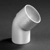 PVC lijm bocht wit 45 graden 32mm mof/spie wit