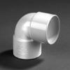 PVC lijm bocht wit 90 graden 32mm mof/mof wit