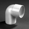 PVC lijm bocht wit 90 graden 32mm mof/spie wit