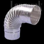 Aluminium bocht 130 mm 90 gr