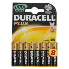 Duracell plus Duralock AAA 8 Pack Batterijen
