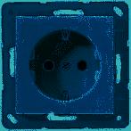 JUNG Inbouw stopcontact  A(S)500 WCD 1V ALP.WIT A1520NWW