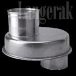 Aluminium haardschuif 110X100 mm rond model