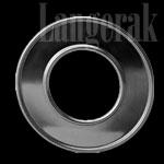 Aluminium rozet 90 mm