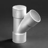 PVC lijm T-stuk wit 45 graden 40mm 3xmof wit